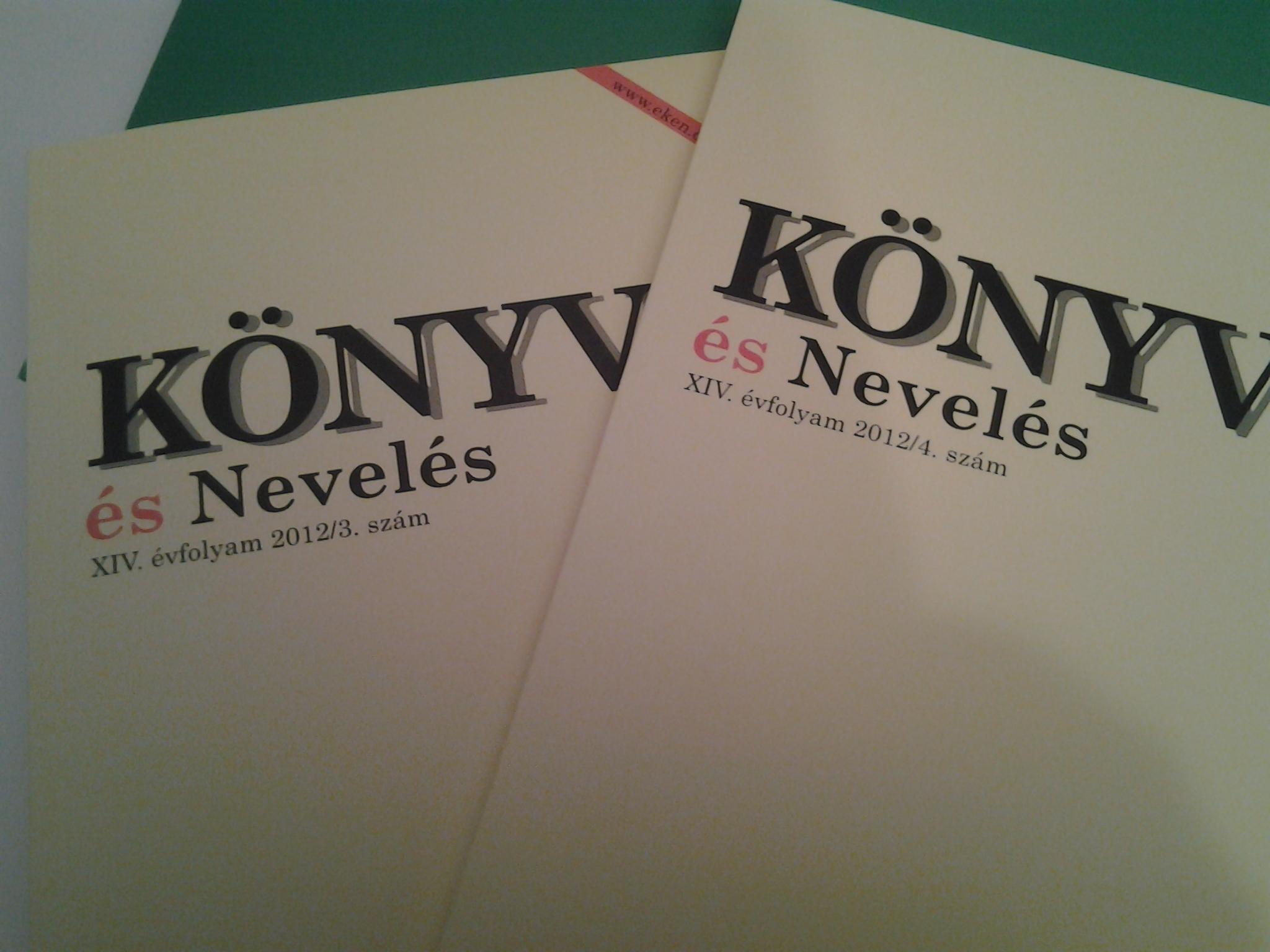 Könyv és Nevelés – 2012. 3. és 4. szám