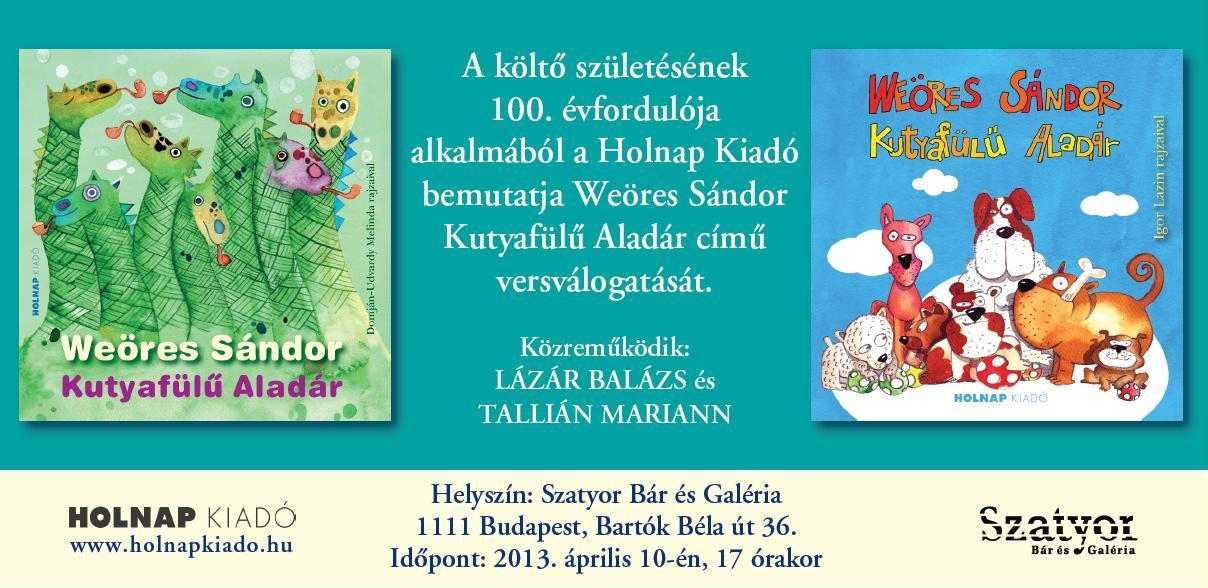 Weöres-jubileum – Weöres Sándor gyerekversei – könyvbemutató