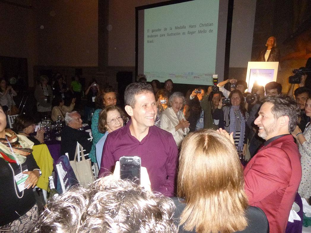Roger Mello at prize