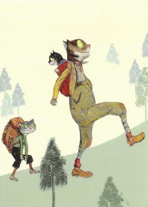 Wolf-Erlbruch-Postkarte-aus-Kalender-Geschwister-Bergsteigerfrust-gross