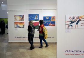 Kortárs és klasszikus magyar gyerekvers-illusztrációkból nyílt kiállítás a KKM-Balassi Intézetben
